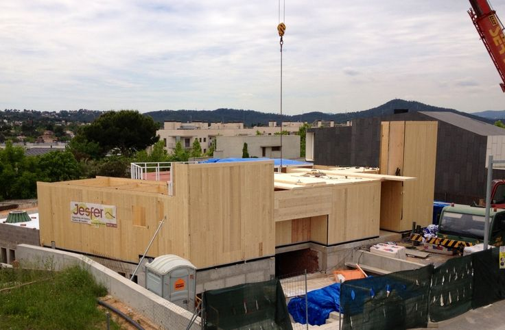 Construcción vivienda de madera en San Cugat (Barcelona) #arquitectura #diseño #construccion