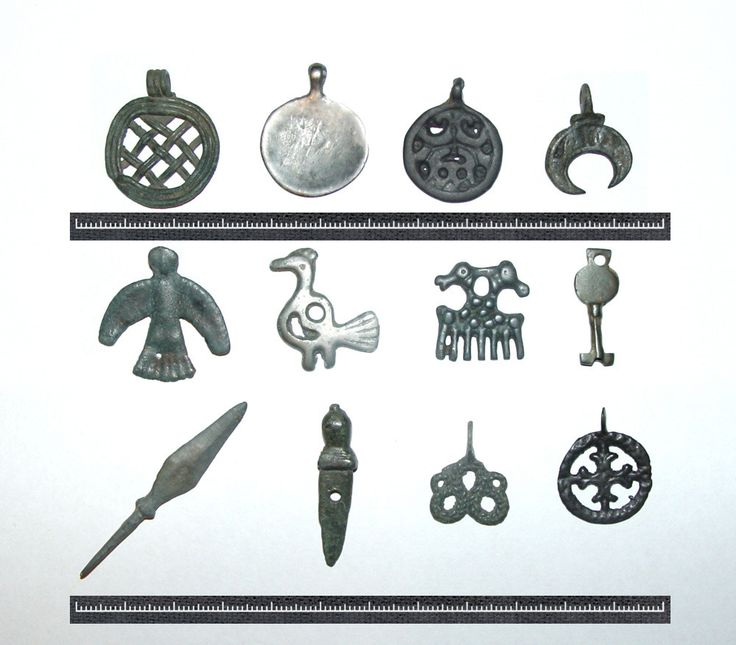 Ancient amulets of slavs and vikings, XI - XIII century.