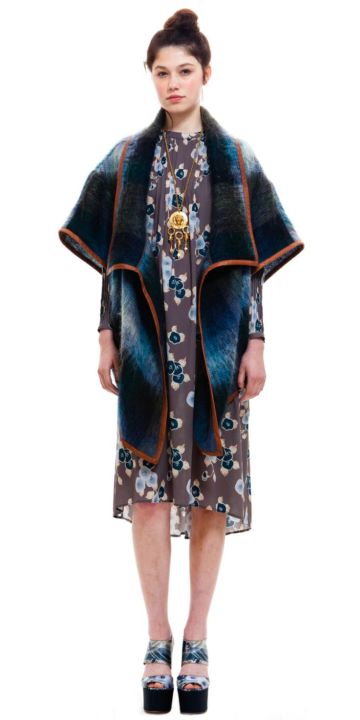 MOHAIR CAPE COAT by Suno