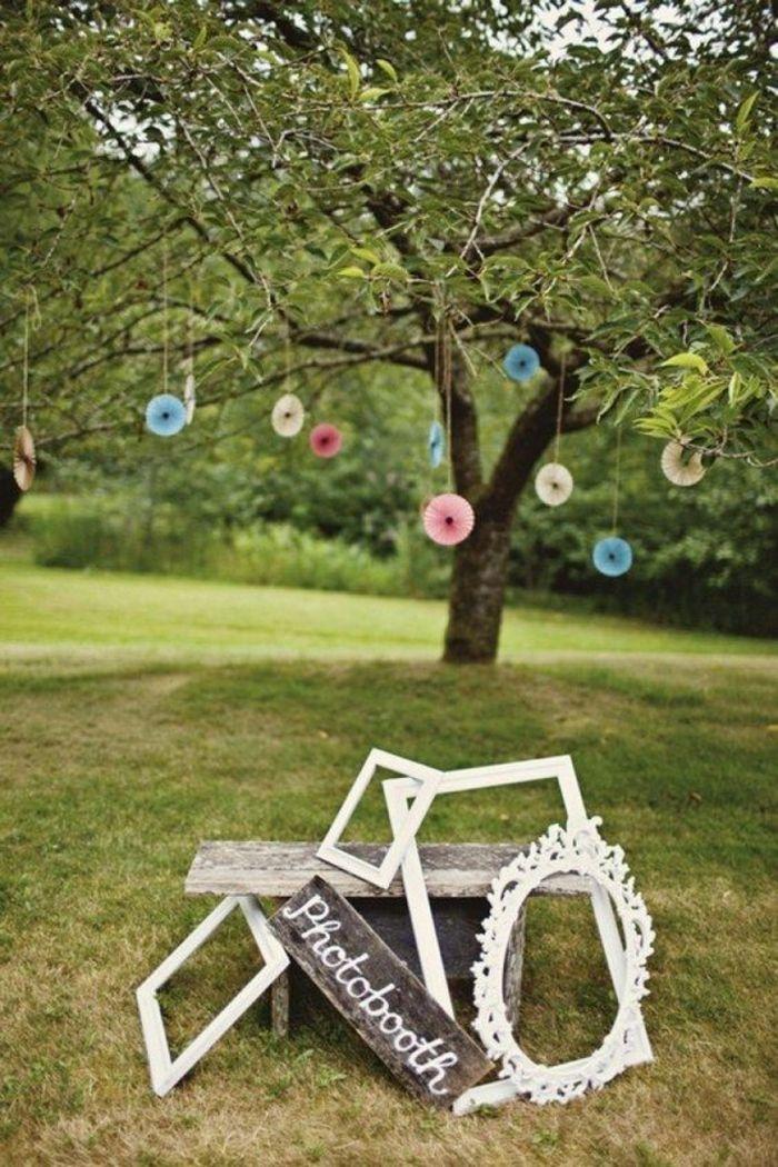 réaliser un photomaton mariage champêtre pour une cérémonie en plein air