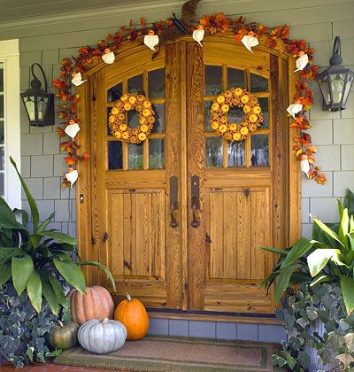 177 best halloween porch images on pinterest halloween ideas happy halloween and fall - Fall Halloween Decorations