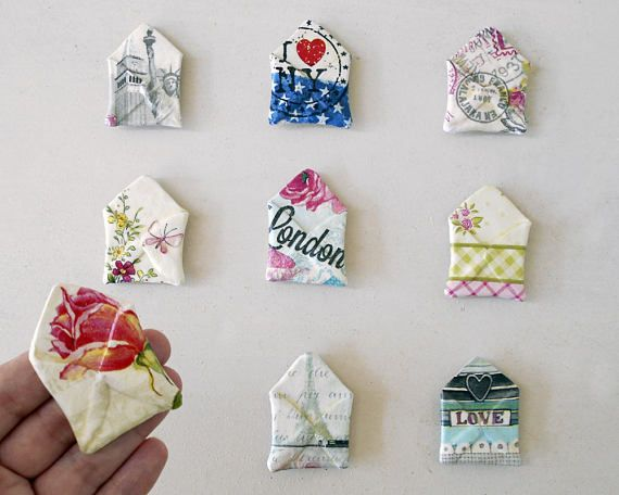 Tiny Envelopes  Cute Fridge Magnets  Travel Theme Wedding