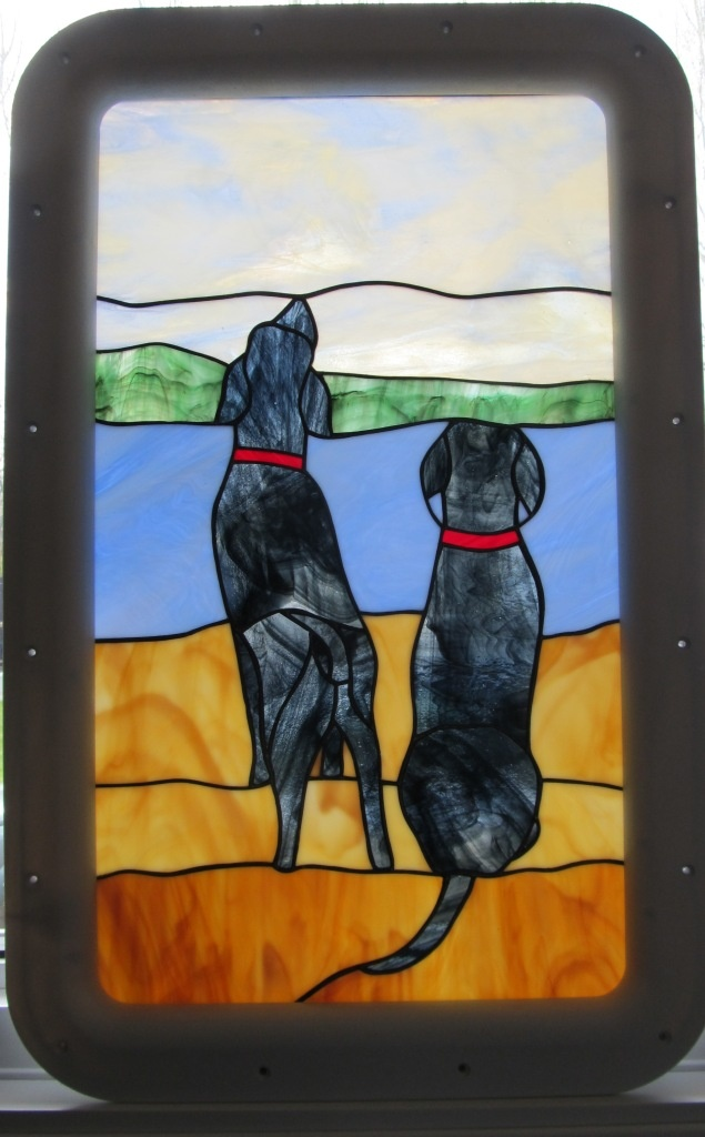 24 best stained glass rv entry door windows images on pinterest black labs stained glass in rv door planetlyrics Images
