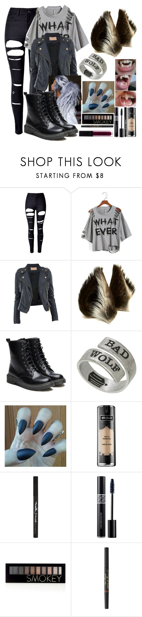 """Werewolf"" by cockles ❤ liked on Polyvore featuring WithChic, CO, Kat Von D, Maybelline, Christian Dior, Forever 21 and Too Faced Cosmetics"
