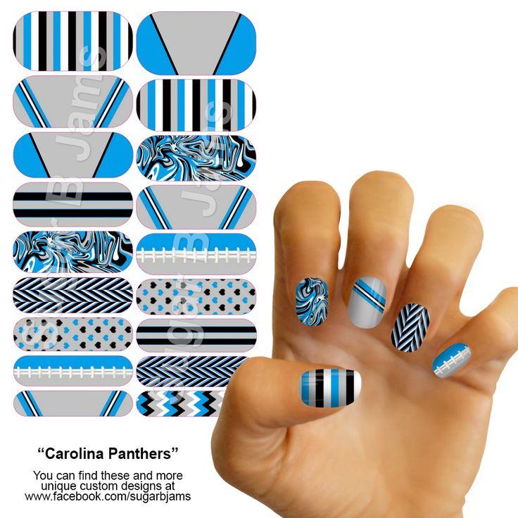 Carolina Panthers Jamberry Nail Wraps (ideas for nail art) - The 25+ Best Carolina Panthers Nails Ideas On Pinterest Carolina