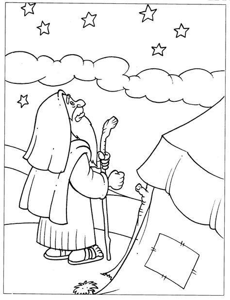 Dibujos para colorear - Abraham ~ EBI México Más | Bible Class Ideas ...