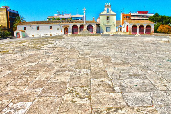 Los Silos de Burjassot (Spain) The odd cement nubs littering this Spanish square are actually the entrances to a series of buried silos