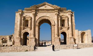 The Arch of Hadrian in Jerash, Jordan The Arch of Hadrian in Jerash, Jordan