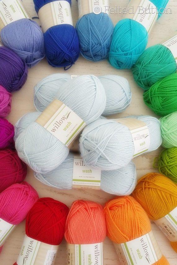 Willow Wash Yarn (willowyarns.com) -- Anti-Pill Acrylic in incredible colors!