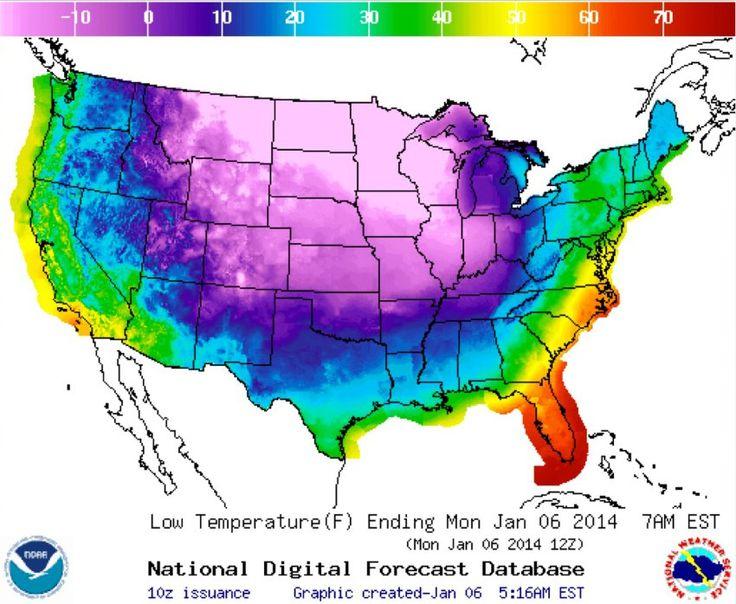 Extremwetter: Eisige Wirbel über dem Ozean lassen USA gefrieren - SPIEGEL ONLINE