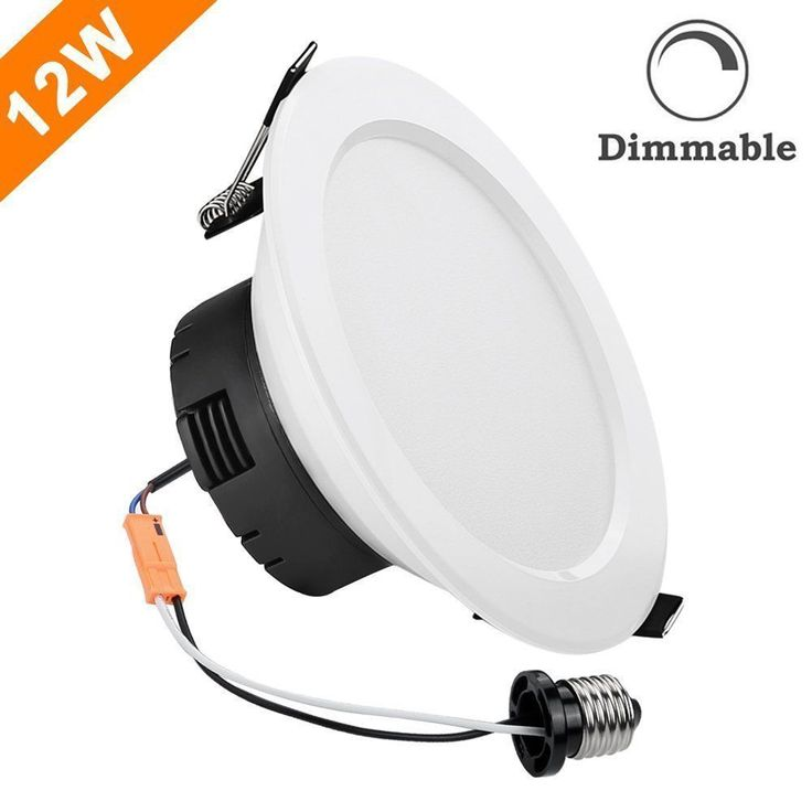 12Watt 4-inch Dimmable Retrofit LED Recessed Ceiling Light Downlight Warm White #LightingEver