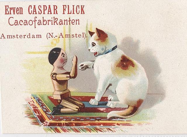 Caspar Flick's Cacao vintage advertising card