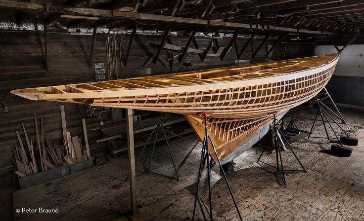 8-Metre Defender. Built to the 1931 plans of William Fife III at Wooden Boatworks in Greenport NY. Touchwood proudly supplied the Alaska Yellow Cedar for the hull planking and deck, Defender will be another work of functional art. Photo via Peter Braune