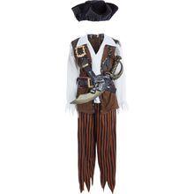Brown Pirate Fancy Dress Costume
