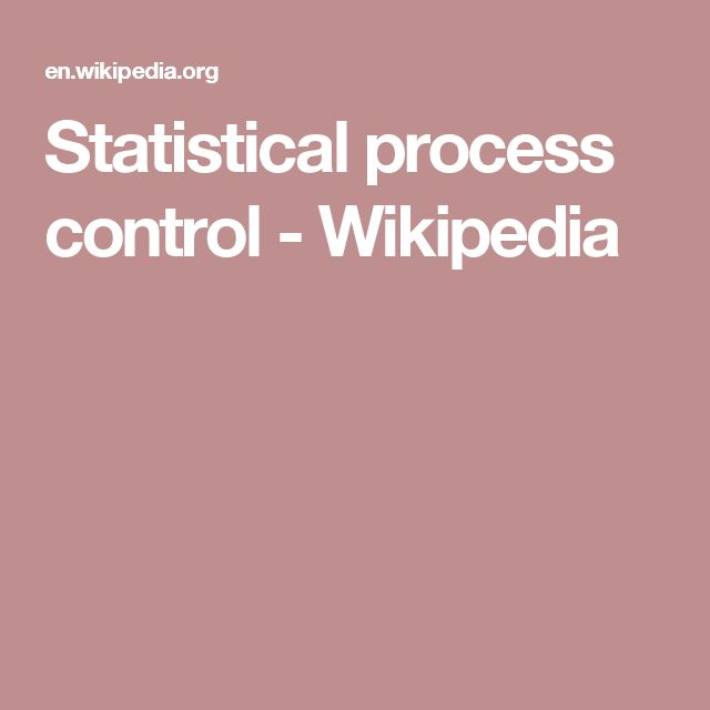 Statistical process control - Wikipedia