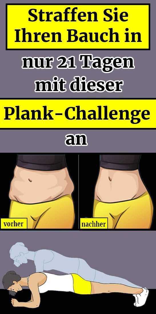 Tighten your belly in #bauch in just 21 days with this Plank Challenge