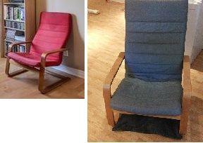 Transformation d'une chaise ikea avec de la peinture à tissus. / Ikea chair makeover with fabric paint