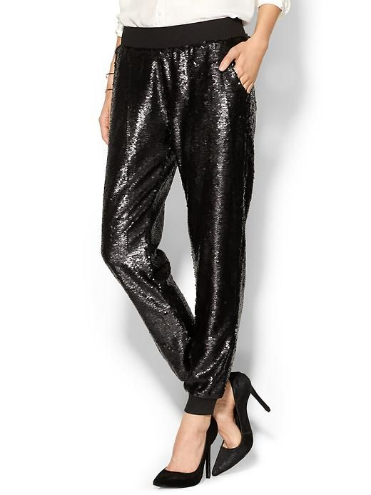 Sequined Jogger Product Image
