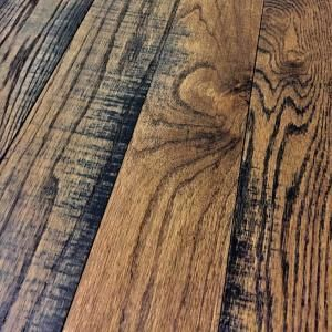 Band Sawn Dark Sienna Red Oak 3/4 in. Thick x 3-1/4 in. Wide x Random Length Solid Hardwood Flooring (22.5 sq. ft./case)-R34314DRS - The Home Depot