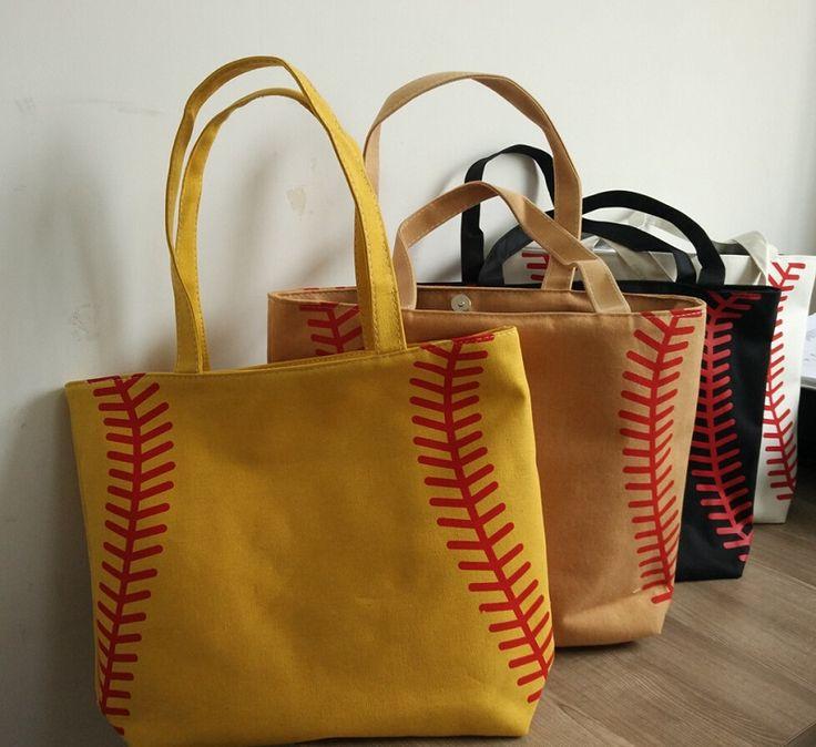 Новый 4 цветов в наличии небольшой бейсбол велоспорт Леди Холст Плече сумка женская Сумочка Симпатичные Канва Сумка баскетбол