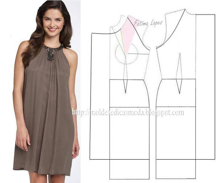 Modelagem de vestido. Fonte: https://www.facebook.com/photo.php?fbid=710017332360541&set=a.262773027084976.75978.143734568988823&type=1&theater