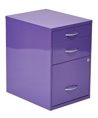 Look what I found on #zulily! Purple Storage File Cabinet #zulilyfinds