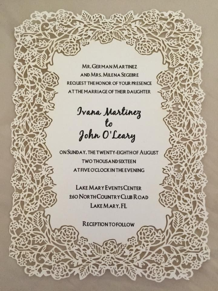 73 best Laser Cut Wedding Invitations images on Pinterest ...