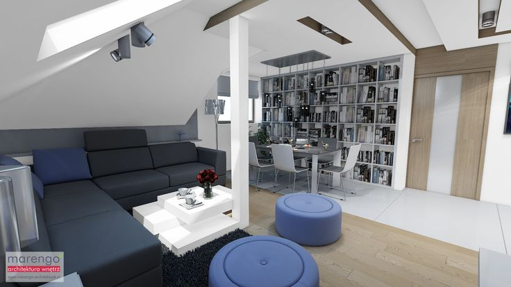 wizualizacja salonu w mieszkaniu w Bochni