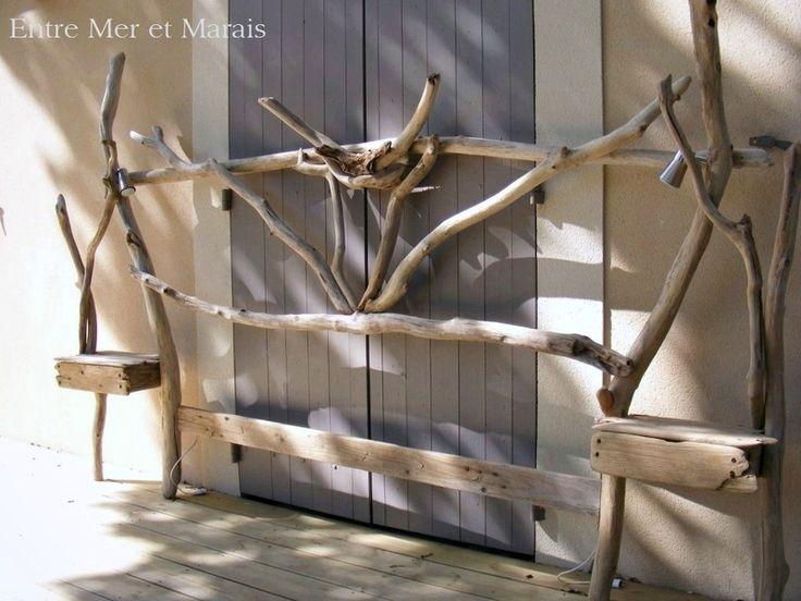 Les 25 meilleures idées de la catégorie Tête de lit en bois flotté ...