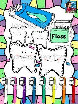 Brush Your Teeth Clipart Bundle