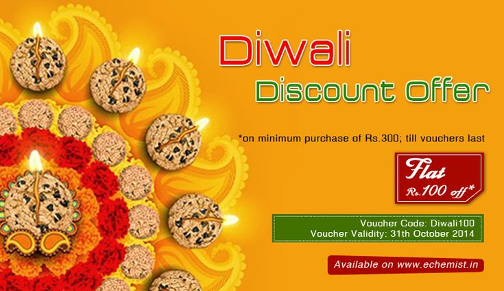 Diwali Sale.. Get Rs 100 off on total purchase at http://eChemist.in