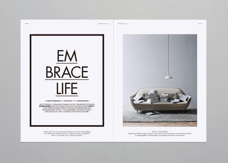 Brunswicker for Danish furniture company Fritz Hansen. Fonts used: Futura and Garamond Pro