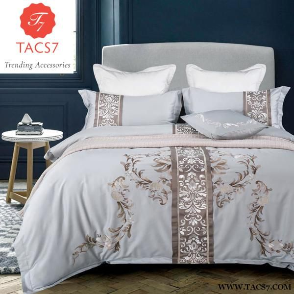 4 6 8 Pcs Latest Design Egypt Cotton Luxury Embroidery Bedding Set Duvet Cover Bedsheet Pillowca Hotel Bedding Sets Luxury Bedding Collections Luxury Queen Bed