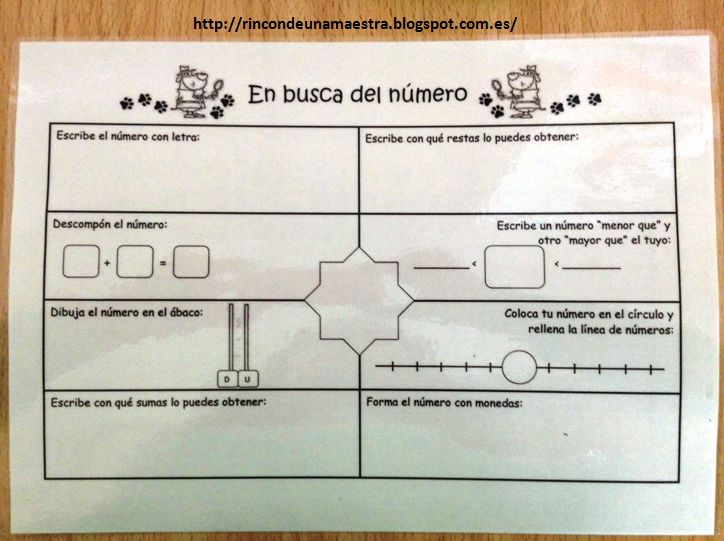 Ficha para cualquier numero  http://rincondeunamaestra.blogspot.com.es/2015/04/matematicas-divertidas-el-detective-de.html