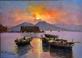 Federico Rossano opere - Cerca con Google Gennaro Rossano ( Napoli 1941) Tramonto olio su tavola cm 13x18 firmato in basso a sinistra: G. Rossano
