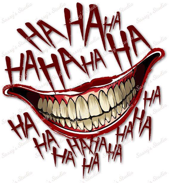 Ha Ha Ha Sublimation Teeth Mouth Png Happy Digital Download Joker Mouth Tattoo Joker Tattoo Joker Smile Tattoo