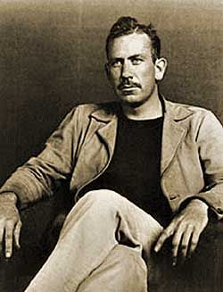 John Steinbeck, famous author (Grapes of Wrath, Of Mice and Men) and commentator of society's ills.