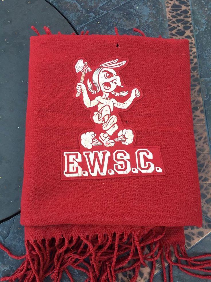 "Vintage Pendleton Eastern Washington State College University ""Savages"" Blanket!"