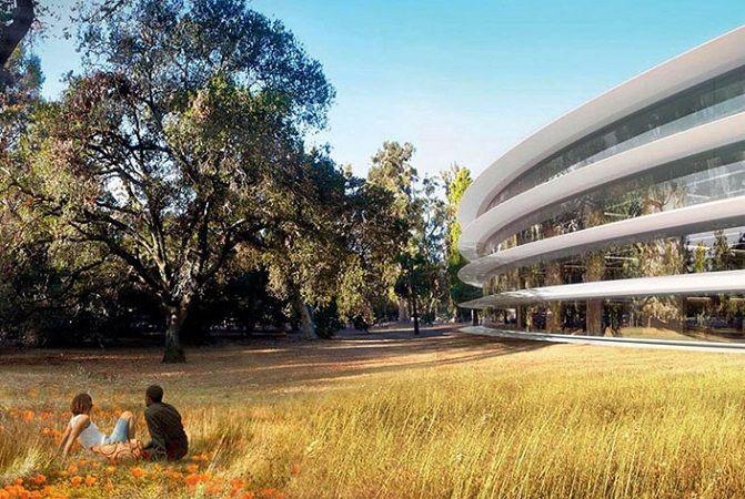 Parco attorno all'Apple Space Campus a #Cupertino, futuro headquarter della multinazionale americana. #Apple