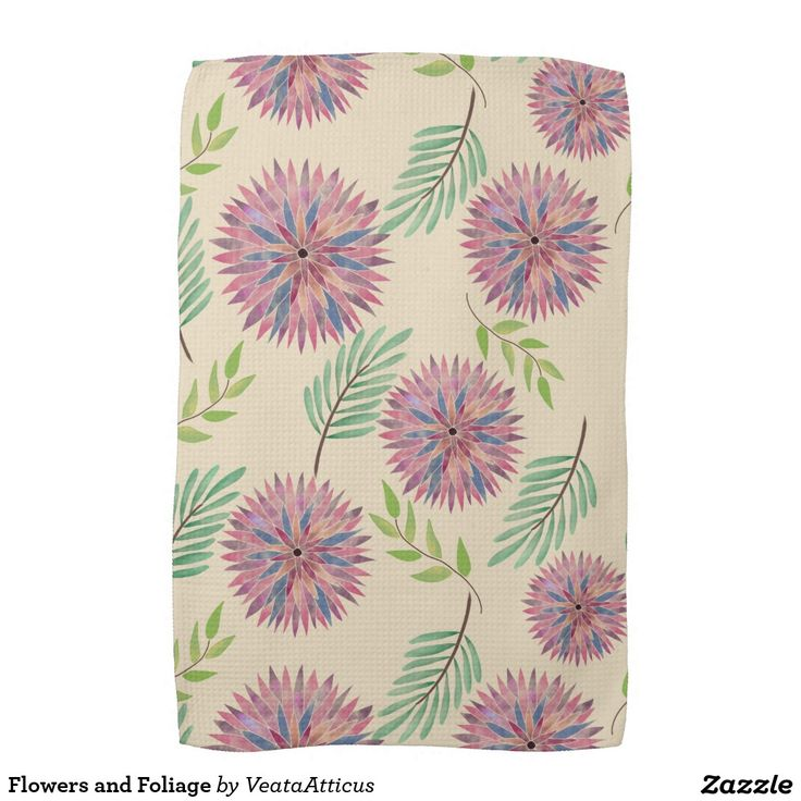 Flowers and Foliage Towel