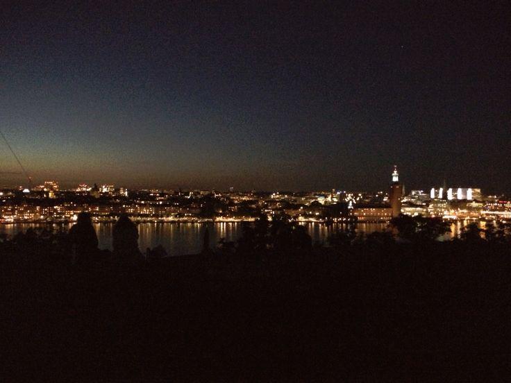 View of Stockholm . Kungsholmen. Södermalm Hornstull