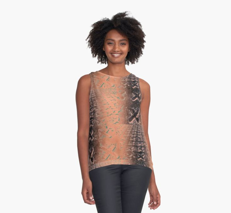 """""""No O's - Negative in Copper"""" by Caitlyn Grasso. #tank #fashion"""