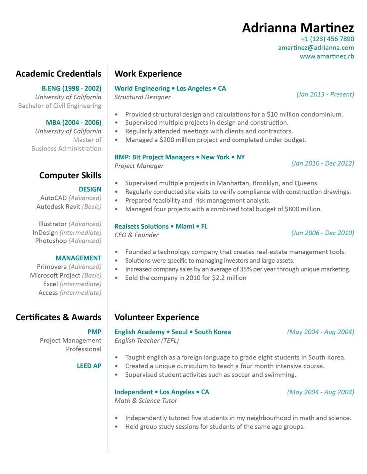 47 best Resume images on Pinterest Apartment design, College - resumes that get jobs