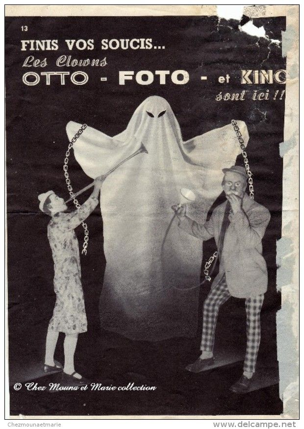 Lovely  FANTOME CIRQUE CLOWN OTTO FOTO KINO GROBER STUHLE ET CHEVRE BRIGIT