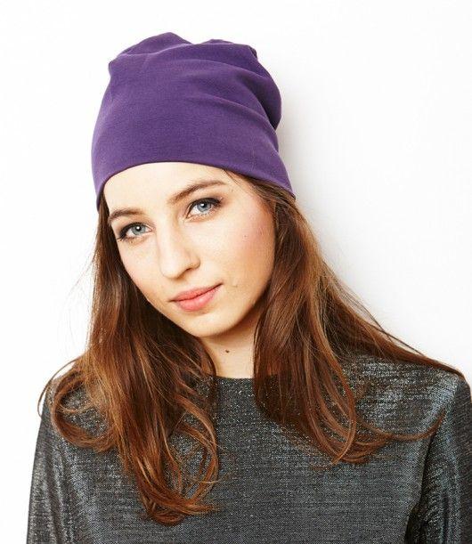 czapka Siss z organicznej bawełny/ śliwka