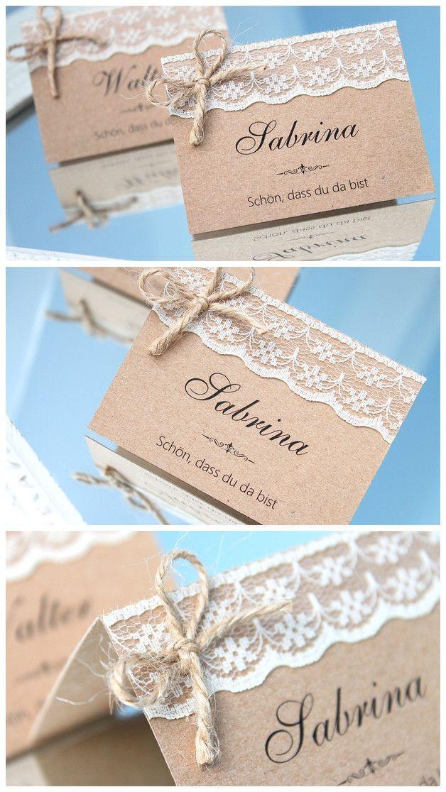 Tischkarten Platzkarten Hochzeit Trauung Namenskarten