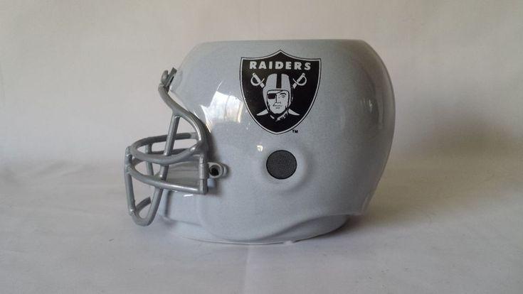 NFL Oakland Raiders Helmet Planter Ceramic 1990 Geerlings Greenhouse #OaklandRaiders