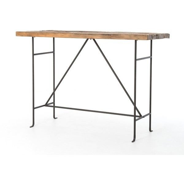 Dining Room | Yardley Bar Table-Bleached Pine/Rust Brn via Polyvore featuring home, furniture, tables, pine table, pine wood furniture, pinewood furniture, pine wood table and yardley london