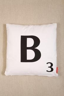 B Scrabble Cushion