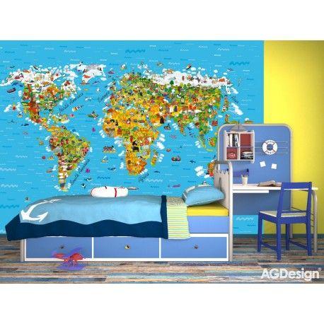 Fototapet Harta Lumii pentru camere copii